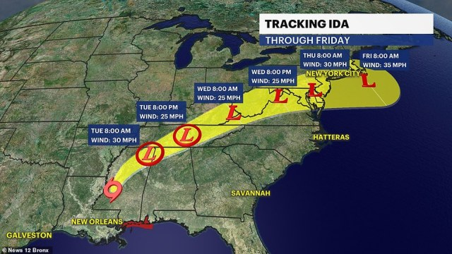 Ida will likely be a tropical rainstorm by the time it reaches the Northeast on Wednesday. Even after it moves off the New England coast later Thursday, residents across the Northeast may still feel the storm's wrath in the days that follow. Many major metropolitan areas, including Boston, New York City, Philadelphia and Washington, D.C. are under flash flood watch