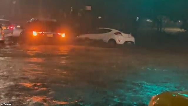 NEW YORK CITY: The National Weather Service noted that cars appeared to be floating in the shocking videos
