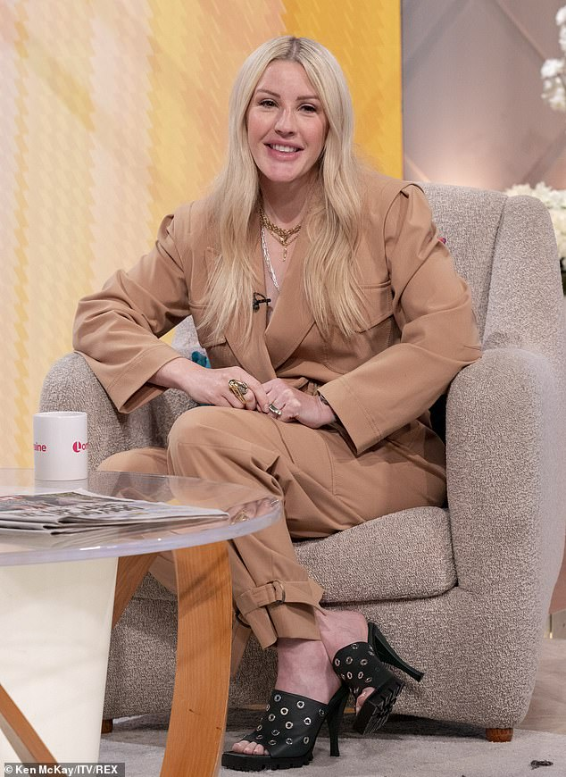 Candid: Ellie revealed the reasons behind why she decided to keep her pregnancy secret as she appeared on Lorraine
