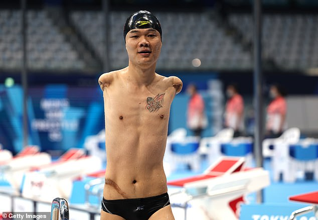 Armless swimmer Zheng Tao picked up his fourth gold at Tokyo 2020 in the50m freestyle S5