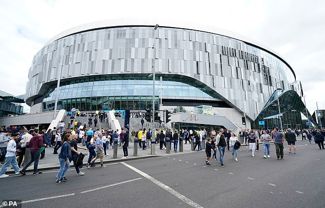 A fire broke out at Tottenham Hotspur's stadium forcing staff to evacuate 300 people