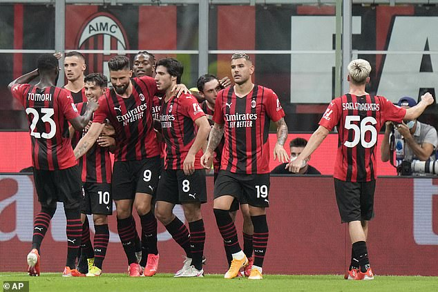 Milan say Giroud has not been in contact with his Milan team-mates since last Sunday
