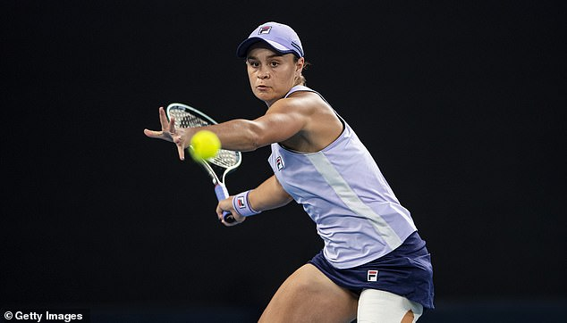 Australian Ashleigh Barty (pictured) got access to a vaccine in April thanks to a WTA Tour initiative at a tournament in South Carolina