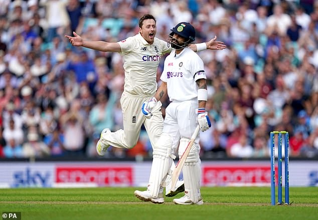 Virat Kohli made some intelligent tweaks to his game but was still undone by Ollie Robinson