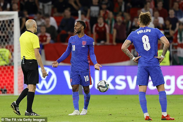 Raheem Sterling was subjected to racist chants from the Hungary support on Thursday night