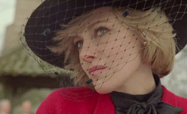 The film, starring Kristen Stewart as Princess Diana (pictured), is not a historical document but more how the filmmakers imagined turmoil she was going through during her final Christmas