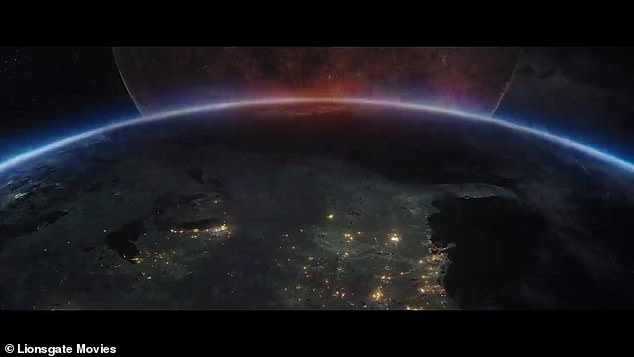 Moon shot:The trailer begins with a shot of the United States from space, along with audio of John F. Kennedy's 1962 speech at Rice Stadium about wanting to go to the moon
