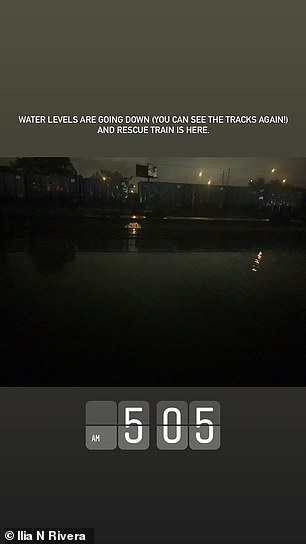 Rivera noted that a rescue train had finally arrived around 5:05 a.m.