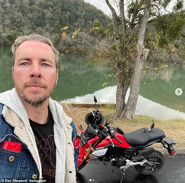 Wheelie big bike fan: Dax is a motorsports fan with the screen star regularly sharing pictures of his Grom, and other bikes and cars on Instagram
