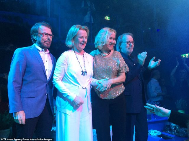 Comeback: The group is made up of Björn Ulvaeus, Benny Andersson, Agnetha Faltskog and Anni-Frid Lyngstad (pictured together in 2016)