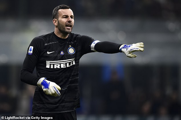 Inter Milan are looking to replace Samir Handanovic (above) - who is now 37 years old