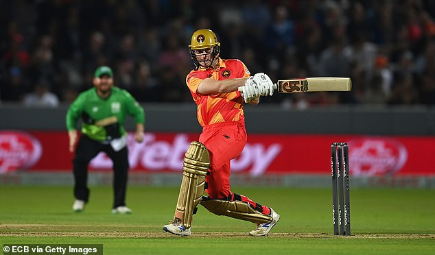 The 22-year-old struck a fine reverse scoop for six, which saw him praised by his idol Pietersen