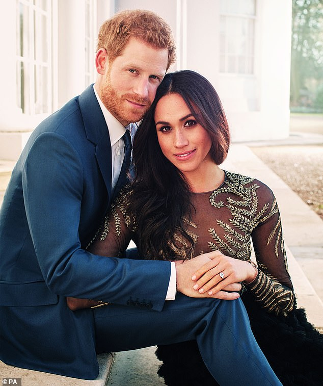 The glamorous designer of Meghan Markle¿s £56,000 engagement dress has been accused of squandering her company¿s cash on luxury lingerie and costly hair-salon appointments before its collapse. Harry and Meghan are seen in their engagement photos