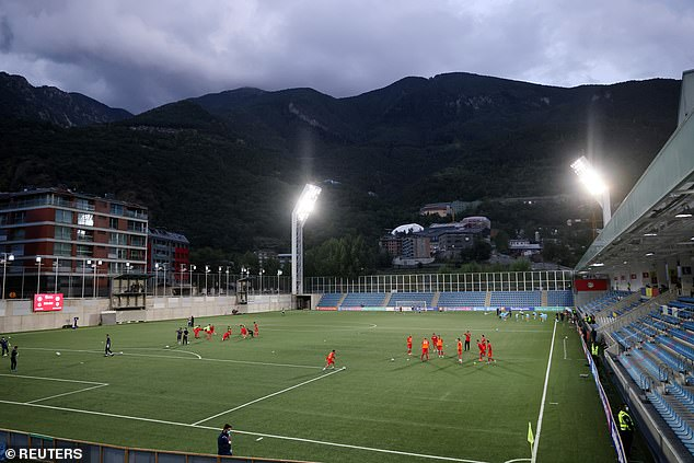 Andorra play their home games in a stadium lying in the shadow of the Pyrenees mountains