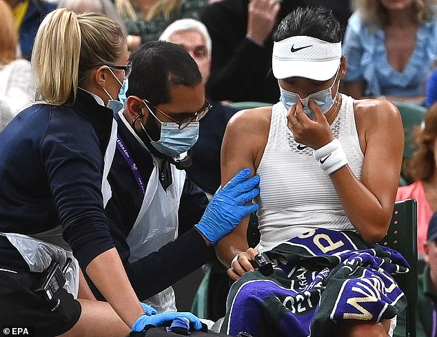 But she was forced to retire from her fourth round match with breathing difficulties