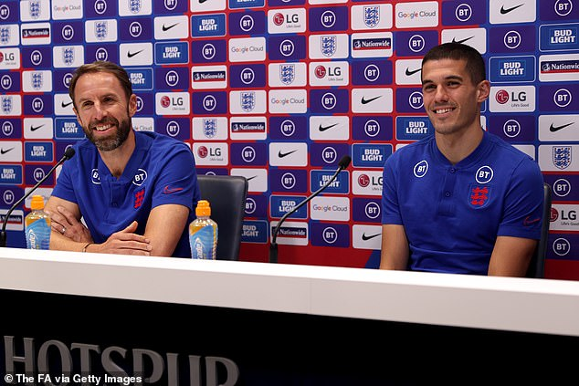 Conor Coady (right) could start in defence as manager Gareth Southgate rings the changes