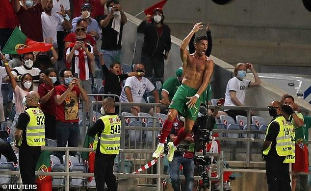 Ronaldo did his trademark celebration when scoring twice in Portugal's 2-1 win over Ireland
