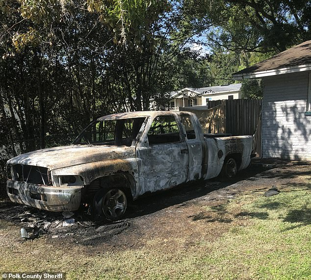 When officers arrived on the scene, Judd said, they saw a truck on fire