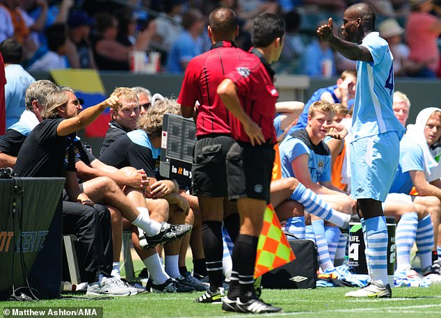He also took Balotelli off in the first half of a pre-season friendly for trying a risky back-heel