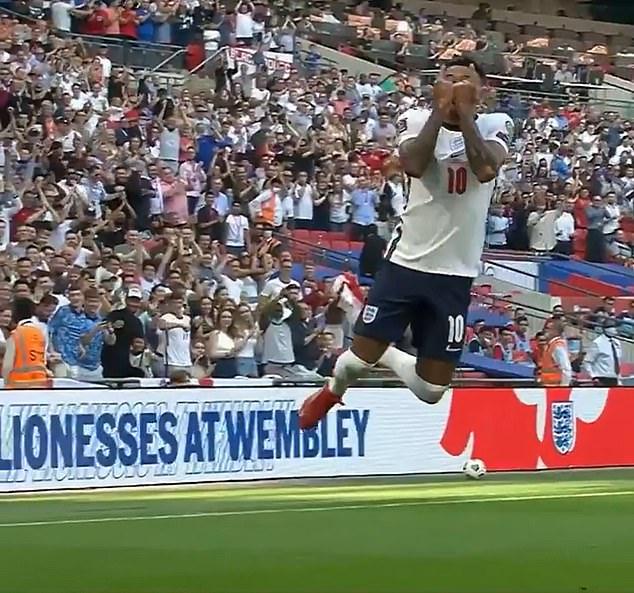 Lingard scored for England versus Andorra and adapted Ronaldo's trademark 'siu' celebration