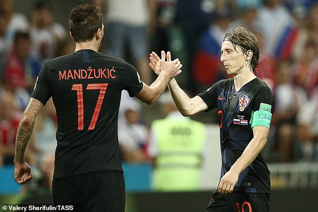Mandzukic and Modric managed to settle their dispute before the 2018 World Cup in Russia