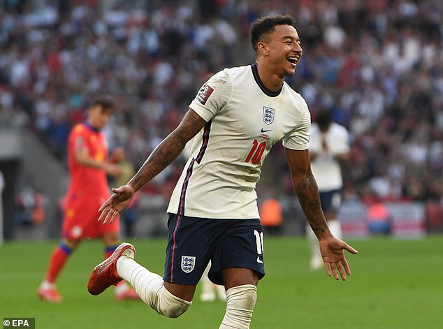 Jesse Lingard scored twice for England and looked increasingly effective as the game went on