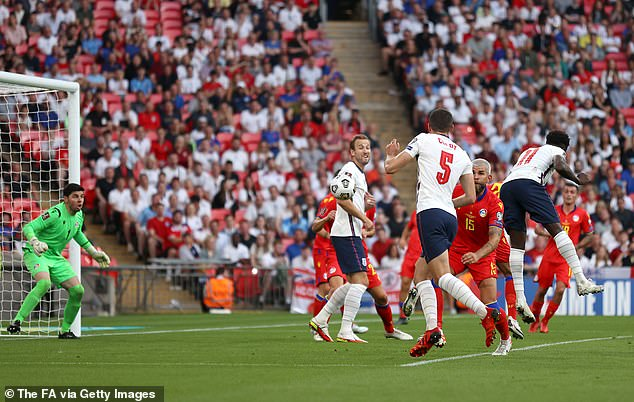 The Arsenal youngster scored a header to round off a 4-0 win at Wembley on Saturday evening