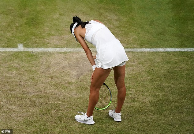Raducanu is unlikely to face the pressure she faced at Wimbledon, which ended in trauma