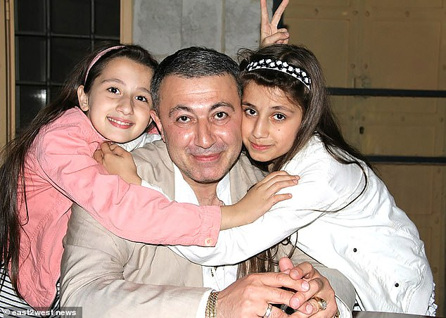 Khachaturyan tortured the sisters and held them under his sway, say psychiatric experts at Russia's respected Serbsky Centre. Pictured: Mikhail with Maria (left) and Angelina (right)