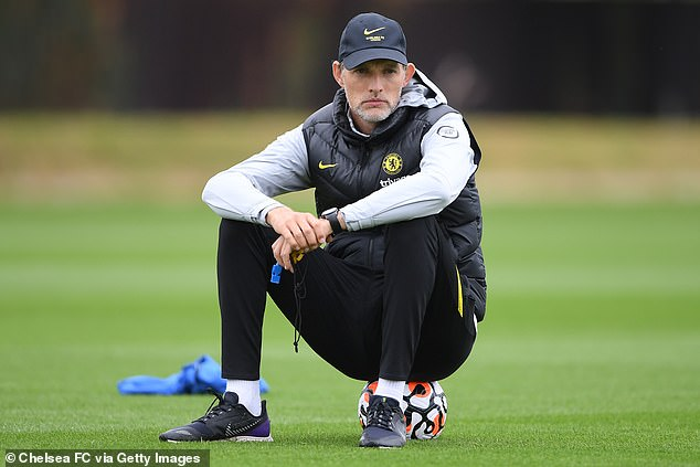 Thomas Tuchel will be hoping Lukaku's thigh issue will not keep him out of the Blues' game with Aston Villa on Saturday