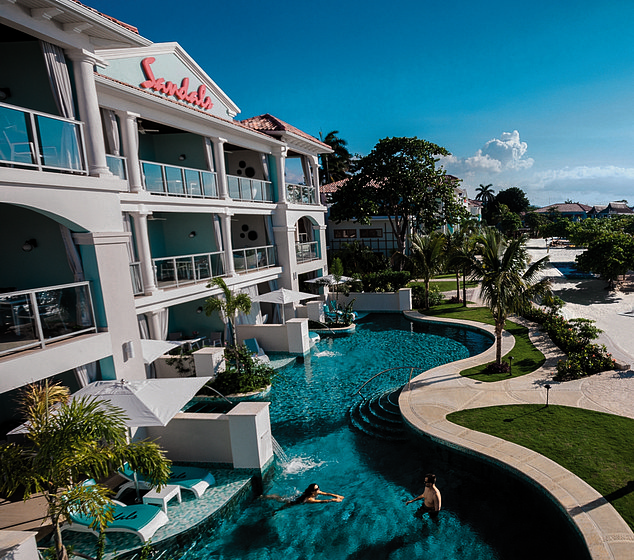Plush: A resort in the Caribbean, where Sandalsis a major driver of GDP, employing 15,000 staff from fire-eaters to scuba diving instructors