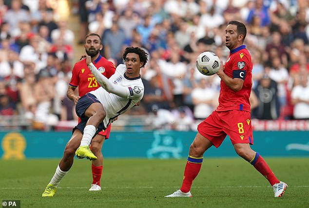 The Liverpool right-back was deployed in midfield against Andorra but struggled to find space