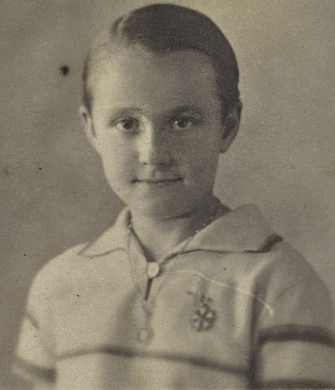 Christian as a young boy