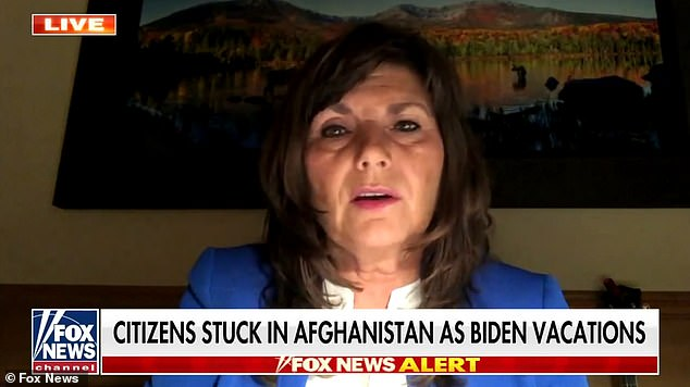 'He's prioritizing his vacation over the lives of American citizens,' Tennessee Rep. Diana Harshbarger said of Biden on Fox News Monday morning