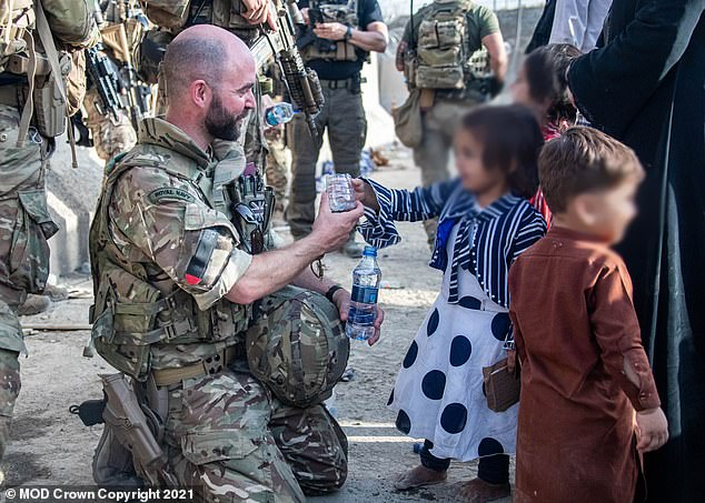Mr Johnson insisted UK forces can be 'proud' of their 'achievements' in Afghanistan (pictured)