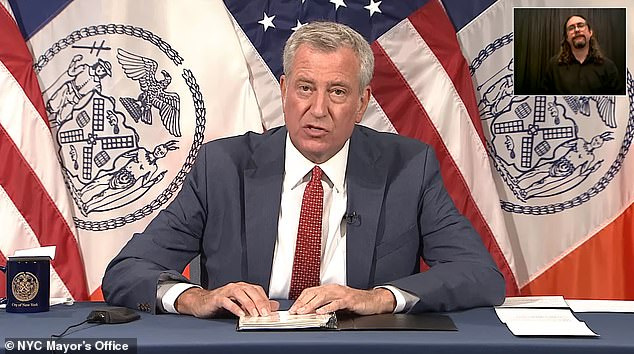 In a news conference on Friday, Mayor Bill De Blasio said he would consider being more aggressive in the future with pre-storm evacuations and orders to clear the streets and subways, as he acknowledged the majority of the deaths in the city were from people who lived in illegal basement apartments