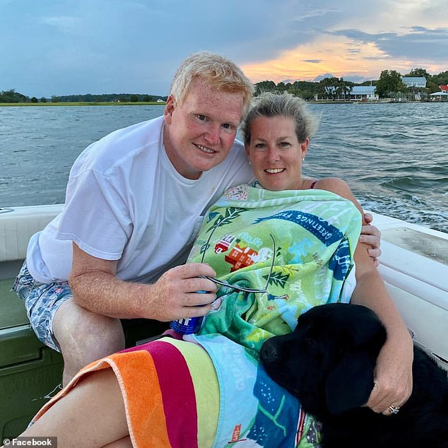 Alex, 53, and Margaret Murdaugh, 52, are pictured together. Margaret Murdaugh was murdered three months ago. Her husband, Alex, was shot on Sunday. Few details are yet known about the incident and it is unclear if Alex Murdaugh was the target of the alleged attack
