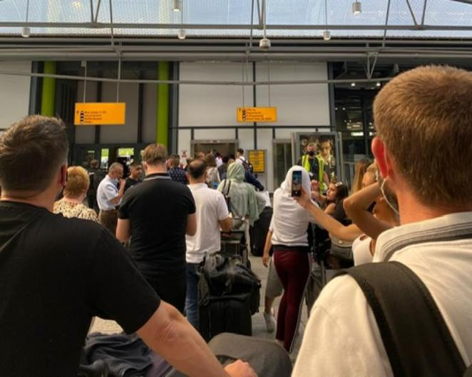 There was even a long queue for the Heathrow T5 car park today for people who had already been waiting for hours to get through passport control