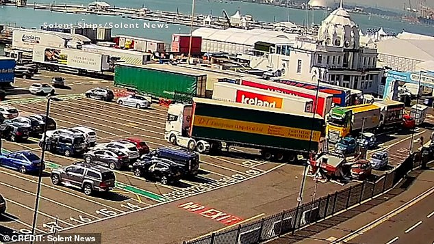 The ticket kiosk at Red Funnel terminal in Southampton, Hampshire, completely collapsed on top of the workers on Monday