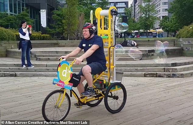 'You learn so much more by failing,' says Carver. The first iteration of his bubble bike was a 'total flop.' But its successor is now part of the Halifax Discovery Museum