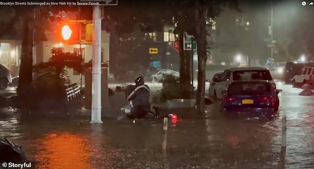Hurricane Ida flooded Brooklyn streets Wednesday night as the remnants of Hurricane Ida pummeled into the Northeast