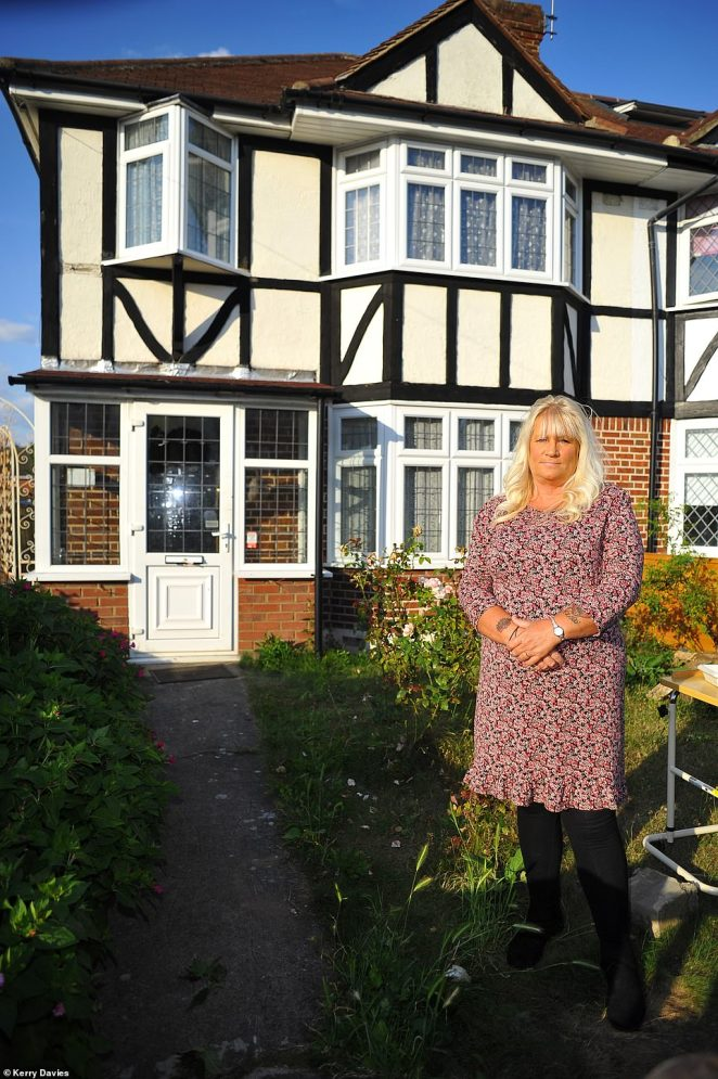 Nancy Griffiths outside the home of her neighbours who she knew for 32 years in Kingston upon Thames, Surrey. They had to sell it to pay for care