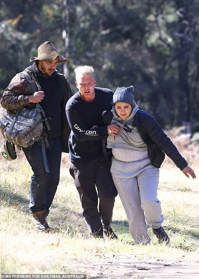 Mr Cassar explained it was very possible that, even with hundreds of volunteers, little AJ avoided detection while in the bush. He is pictured (left) with AJ's mother Kelly