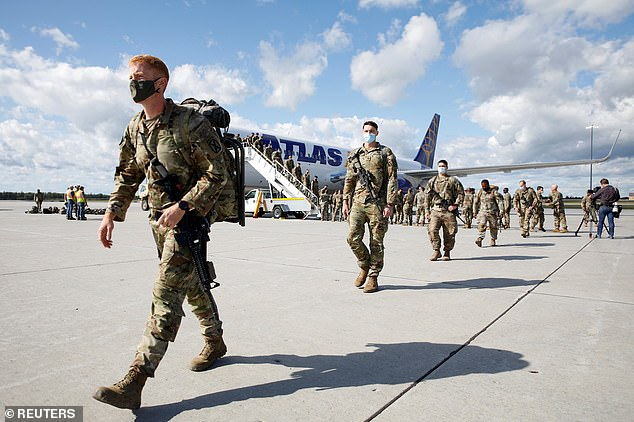 140 U.S. soldiers from the 4th Battalion, 31st Infantry Regiment 2nd Bridge Combat Team of the 10th Mountain Division returned to U.S. soil on Monday after arriving at Fort Drum in New York