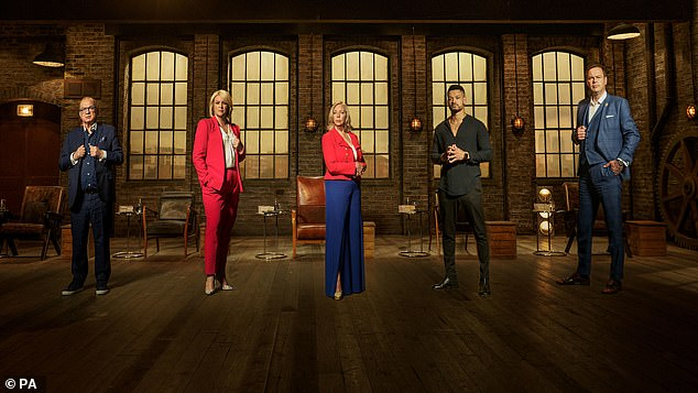 TV star:Sara (pictured second left with Dragon's Den co-stars) said she's been told she'll 'love' being on the show by her co-star and former contestant Deborah Meaden (centre)