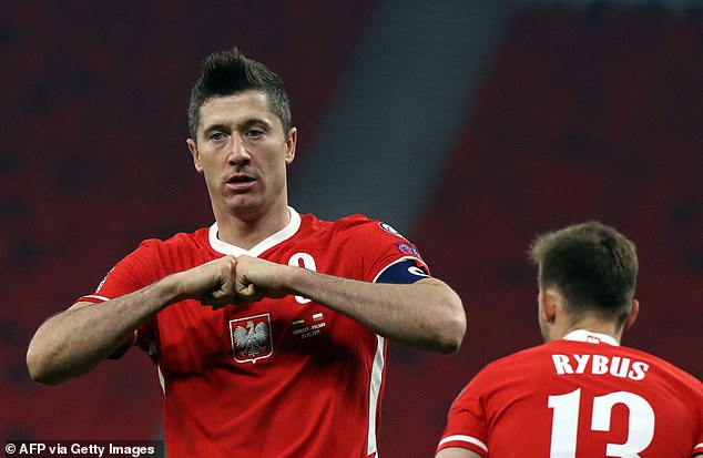 Lewandowski could even find room inside a telephone box, and is the ultimate space invader