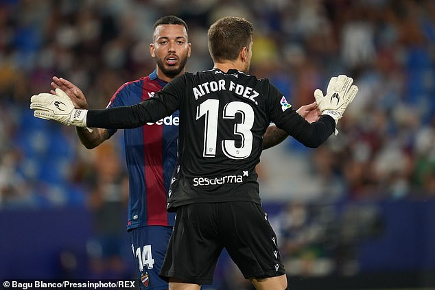 The defender was given the No 13 shirt previously worn by Aitor Fernandez, but the number is only to be worn by goalkeepers and also cannot be changed during a campaign