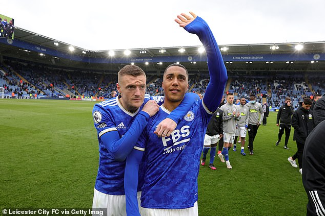 Tielemans (right) was strongly linked with an exit from Leicester to Liverpool this summer
