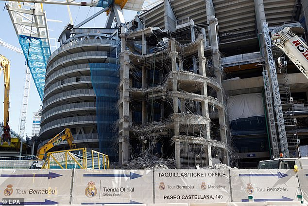 A 'miraculous' construction effort has taken place after parts of the ground were demolished