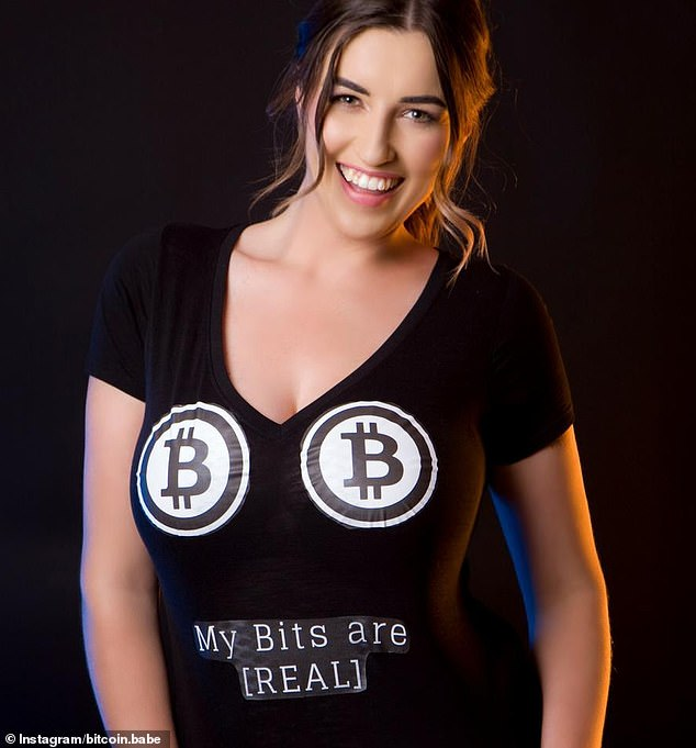 Michaela Juric (pictured) runs Bitcoin Babe and said she has been blacklisted from more than 90 banks because she makes money from digital currency